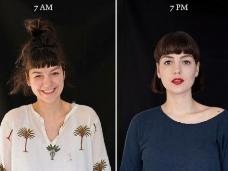 Φωτογραφίζοντας ανθρώπους στις 7 το πρωί και στις 7 το απόγευμα