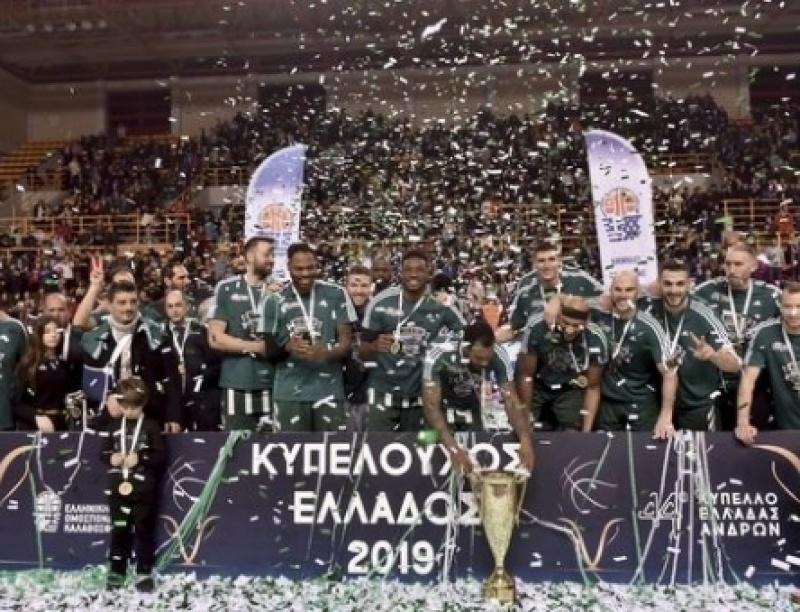 ΠΑΟΚ - Παναθηναϊκός 73-79: Κυπελλούχοι Ελλάδας οι πράσινοι